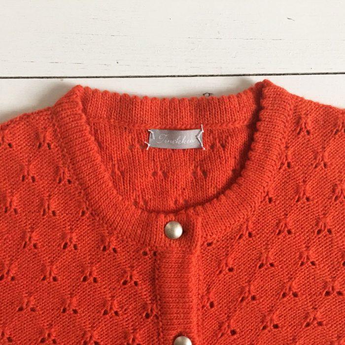 neue Season billigsten Verkauf Outlet zum Verkauf Soft Wool Damen Strickjacke mit Ajourmuster, Koralle-Rot